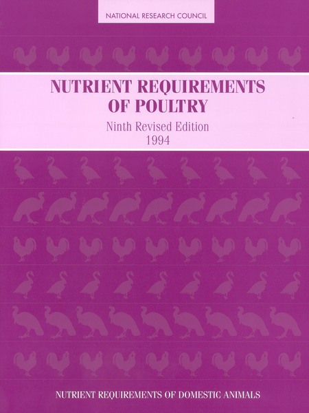 Nutrient Requirements Of Poultry Ninth Revised Edition