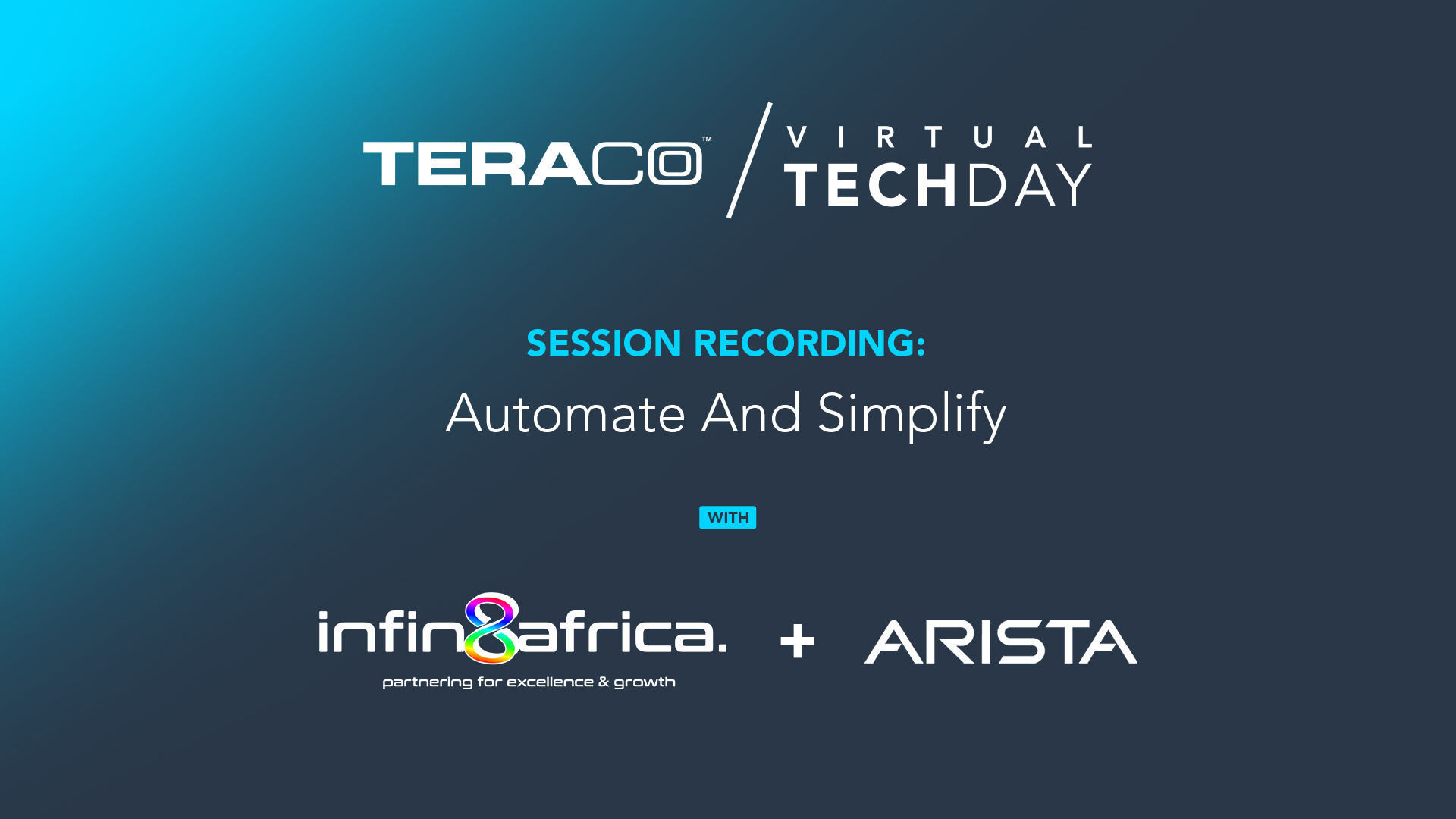 Teraco Tech Day | Infin8Africa + Arista Networks