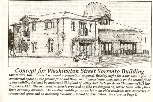 Sorrento building photo from the Yountville Sun