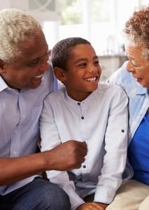 Retired Couple and Grandchild