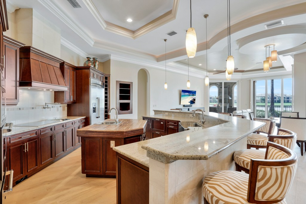 Kitchen in a Lely Luxury Home