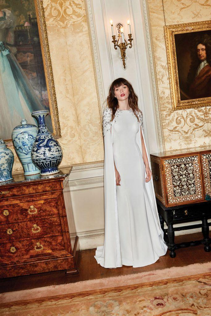 Elspeth ivory crpe dress with crystal embellishments ($ 5,075), Jenny Packham, Neiman Marcus, Bal Harbor