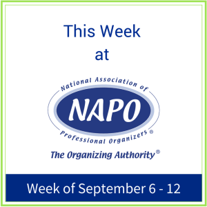 This week at NAPO Sept 6 - 12