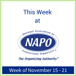 This Week at NAPO Nov 15 - 21
