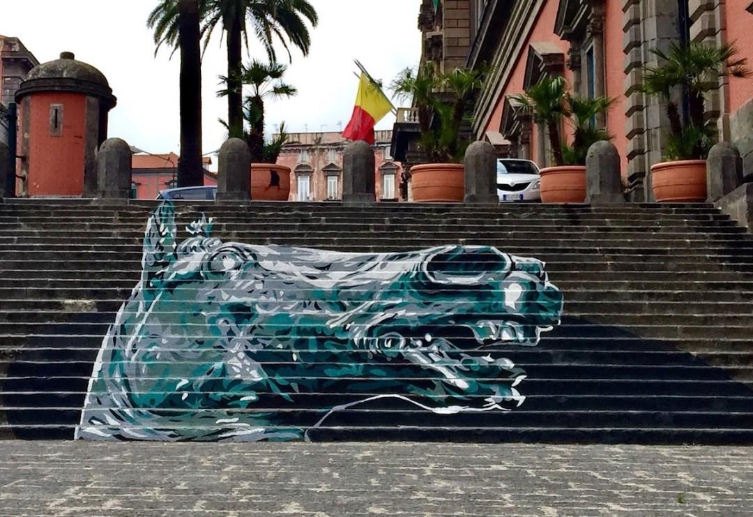 Testa di Cavallo di Donatello Street Art