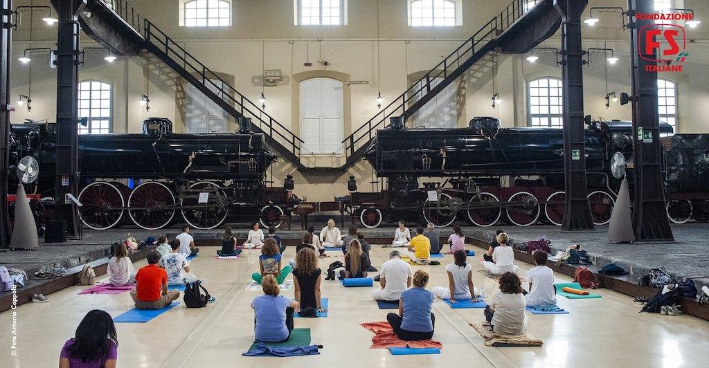 Yoga al museo di Pietrarsa