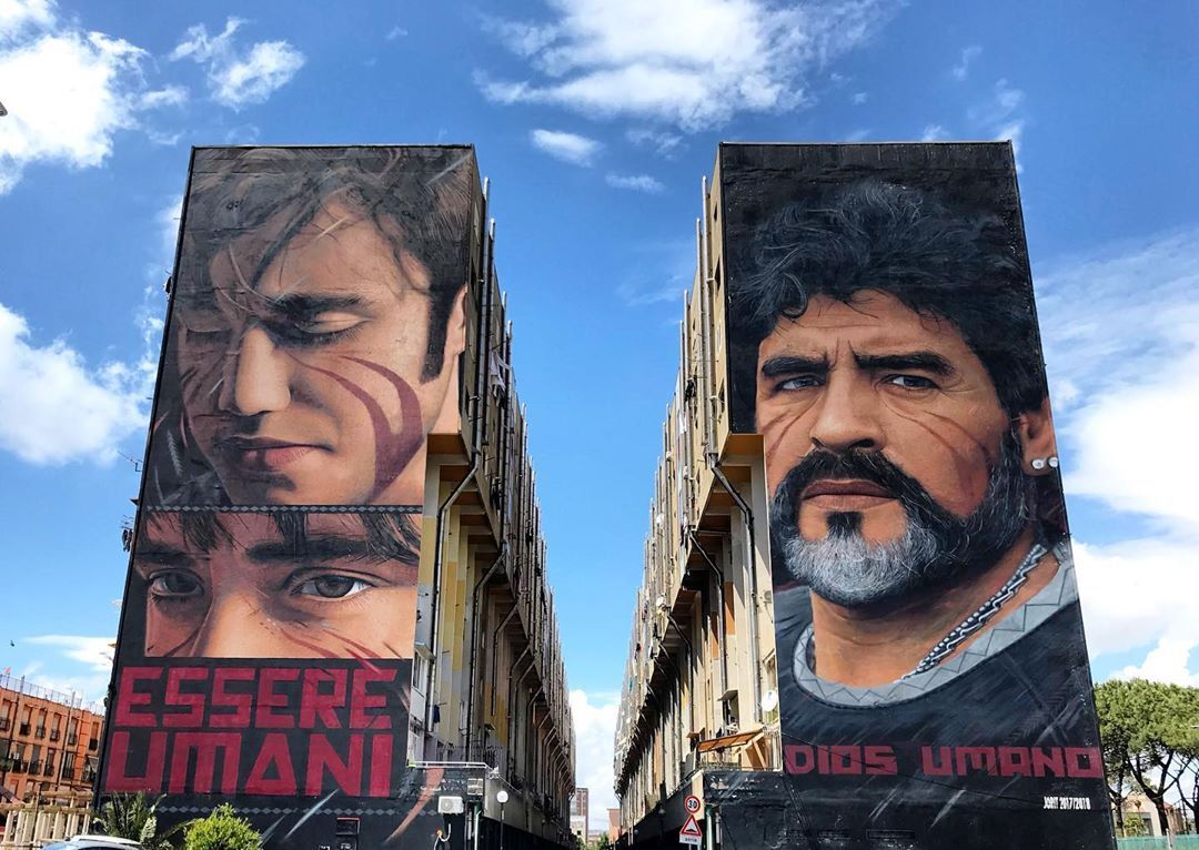Jorit - Maradona e Scugnizzo