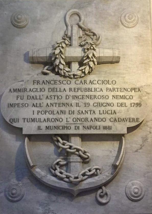 Epitaffio Ammiraglio Caracciolo