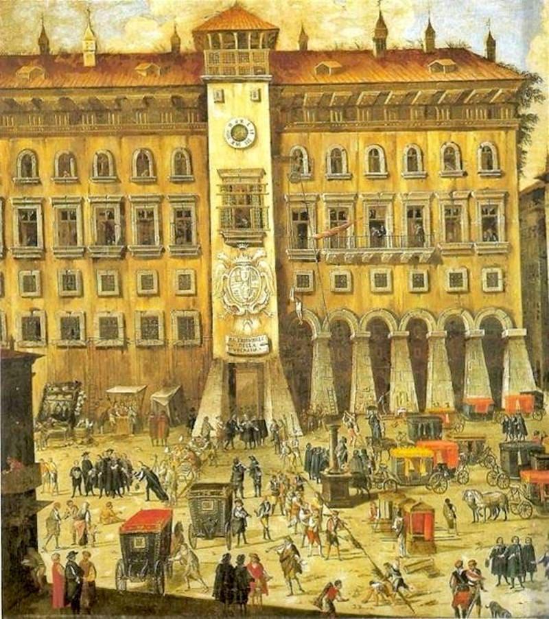 Castel Capuano in un dipinto del XVII secolo