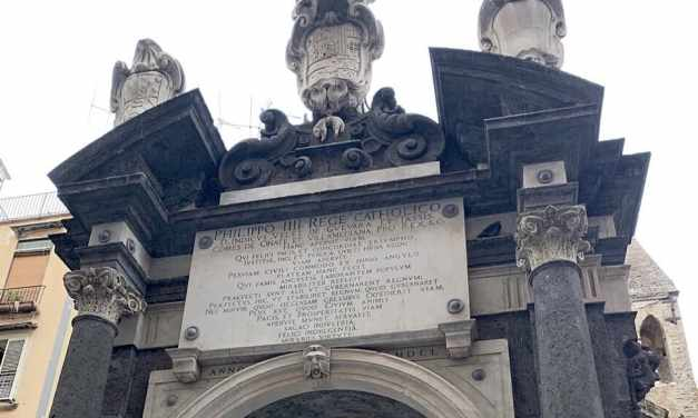 Piazzetta del Grande Archivio e la Fontana della Sellaria