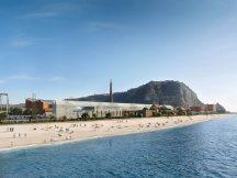 La spiaggia di Città dell Scienza