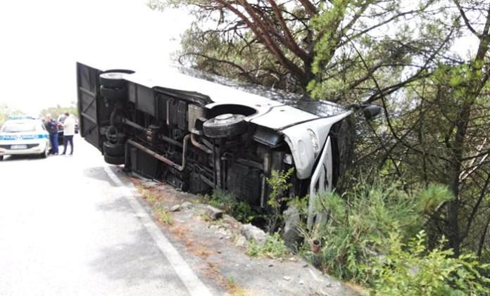 Incidente sul vesuvio, autobus turisti cinesi