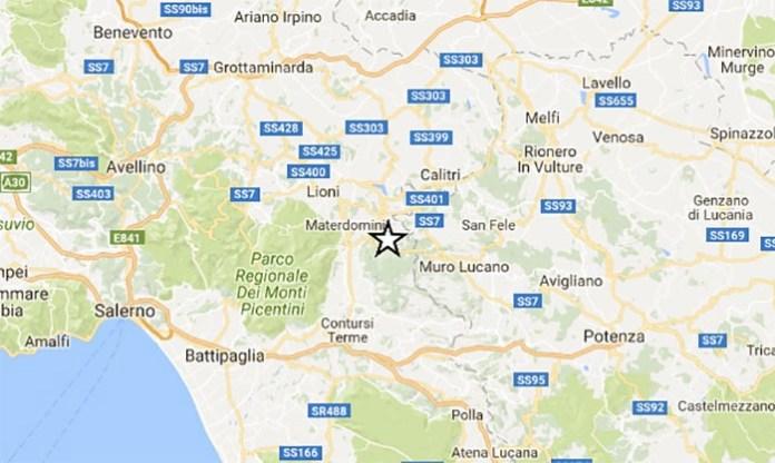 Terremoto a Salerno: registrato sisma di magnitudo 2.3