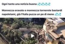 """Tragedia Torre Annunziata, su Facebook post offensivo: """"Siete monnezza"""""""