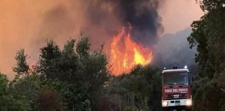 Napoli, le fiamme divampano agli Astroni: 2 agenti intossicati