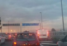 Incidente sull'Asse Mediano: lunga colonna di traffico