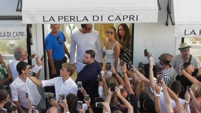 Jennifer Lopez e A-Rod a Capri: fan in delirio