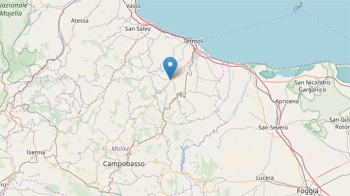 Terremoto oggi, Molise: sisma avvertito fino in Campania