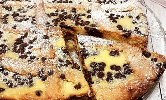 Ricetta crostata di ricotta e fichi con golose gocce di cioccolato