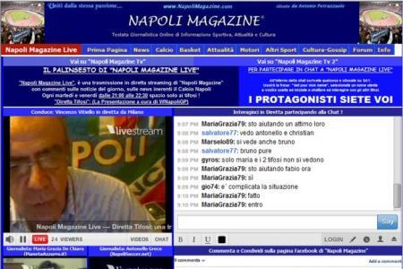 """Web Tv, a """"NapoliMagazineLive.Com"""" tutti d'accordo: """"Chi e' al Napoli deve amare l'azzurro"""""""