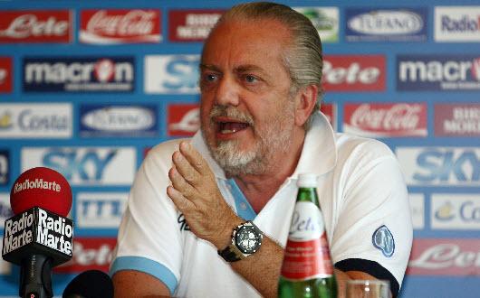 Napoli, De Laurentiis si congratula con la squadra e con Benitez Napoli, De Laurentiis si congratula con la squadra e con Benitez
