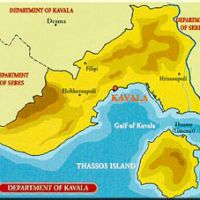 mappa di Kavala