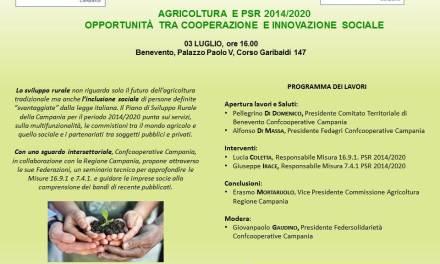 AGRICOLTURA E PSR 2014/2020  OPPORTUNITÀ TRA COOPERAZIONE E INNOVAZIONE SOCIALE