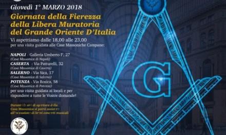 MASSONERIA : IL 1° MARZO APERTURA DELLE CASE MASSONICHE ITALIANE DEL GRANDE ORIENTE d'ITALIA (GOI) DALLA VAL D'AOSTA A CANICATTI'.