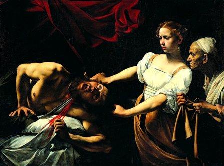 Caravaggio-Giuditta_taglia_la_testa_a_Oloferne