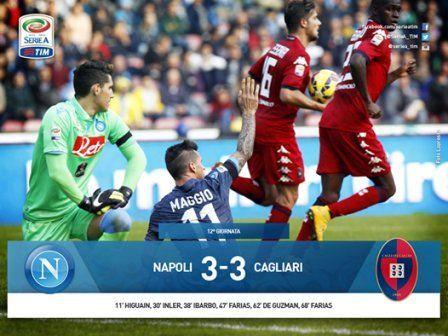 Napoli Cagliari 3-3
