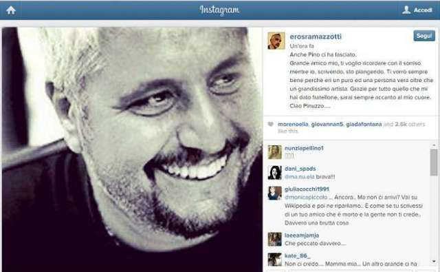 Pino Daniele instagram