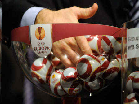 The bowl is pictured during the draw for
