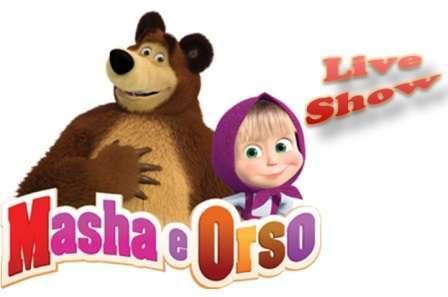 Masha e orso live show il cartone animato del momento diventa un