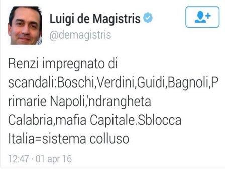deMagistris.Renzi.SbloccaItalia