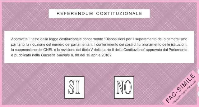 Referendum: costituiti i seggi