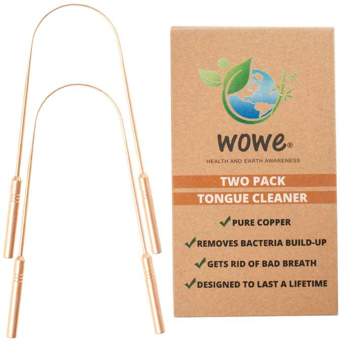 Pure Copper Tongue Cleaner – Pack of 2