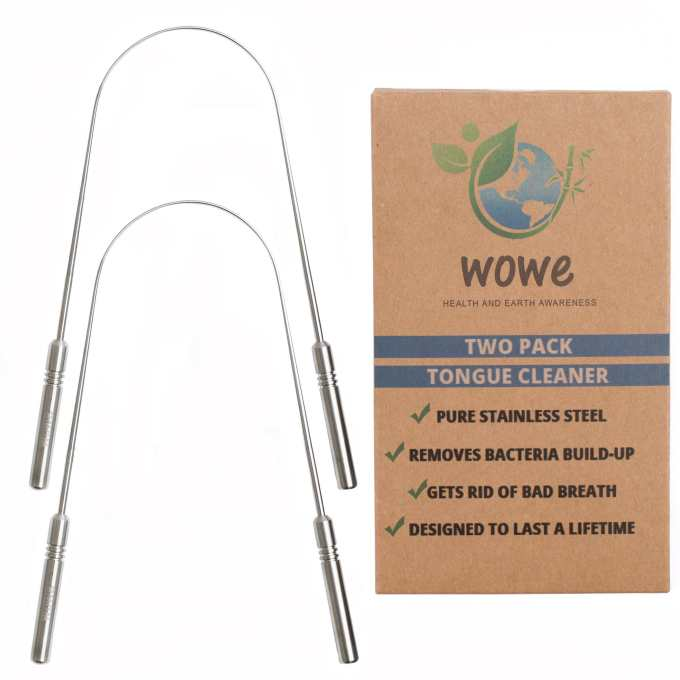 Stainless Steel Tongue Cleaner – Pack of 2