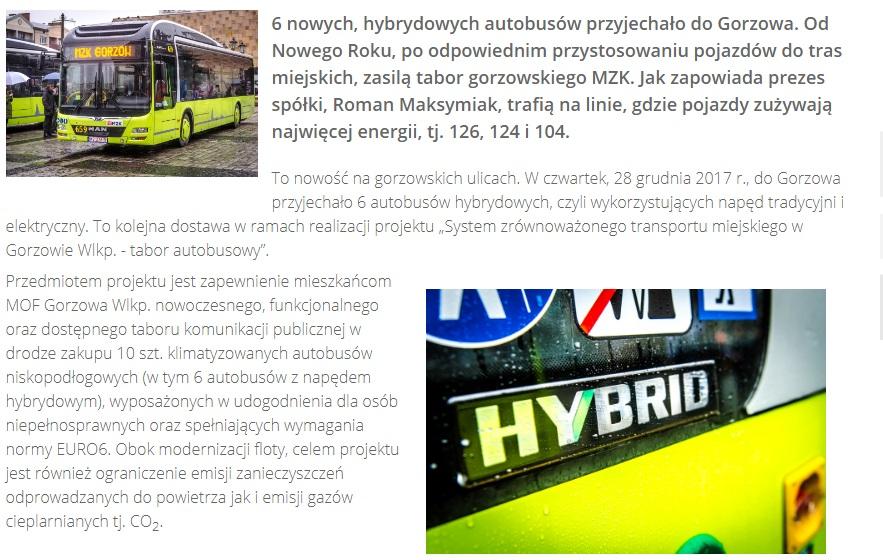 Gorzów Wielkopolski - Naprawa Hybrydy
