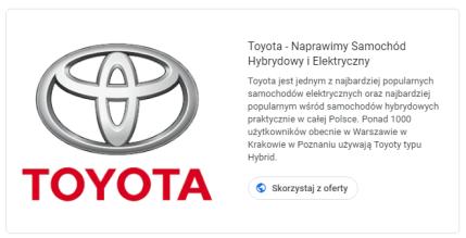 Toyota - Naprawa Aut Hybrydowych