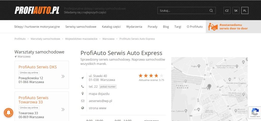 ProfiAuto Serwis Auto Express Sprawdzony serwis samochodowy. Naprawa samochodów wszystkich marek.