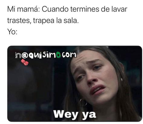 meme wey ya lavando trastes