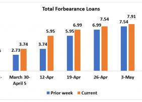 Bar chart: Total Forbearance Loans