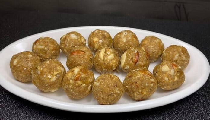 Dry fruit Faradi Ladu - dry fruit faradi ladoo recipe in gujarati - faradi ladoo recipe in gujarati - ફરાળી લાડુ