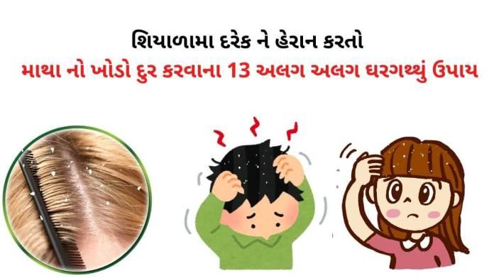 how to remove dandruff in Gujarati - ખોડો દૂર કરવાના ઉપાયો