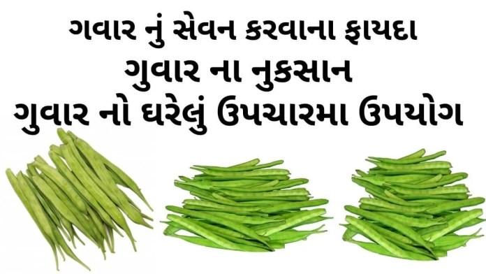 ગવાર ના ફાયદા - ગુવાર ના નુકશાન - Guvar na fayda - cluster beans benefits in Gujarati