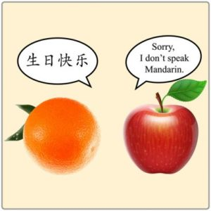 chiste-mandarina-manzana-Ni-hao-sorry-i-don-t-speak-mandarin