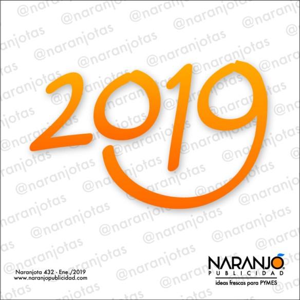 Naranjota 432 para inaugura el 2019 con una sonrisa.