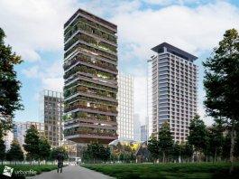 """Porta Nuova Milano cresce ancora. La nuova torre Pirelli 39 potrebbe essere il primo nuovo """"bosco verticale"""" d'Italia."""