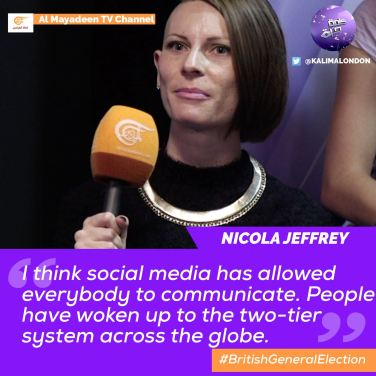 Nicole Jeffrey Kalima Horra UK-French elections Almayadeen George Galloway Narcissi