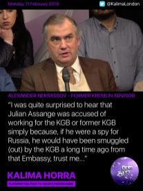 Alexander Nekrassov - Julian Assange debate on Kalima Horra